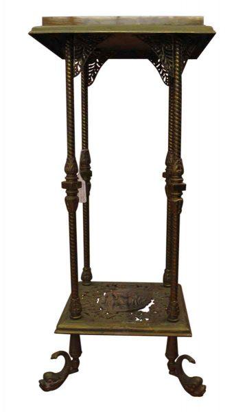 Bronze & Marble Pedestal on Stand