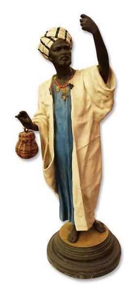 Blackamoor Snake Charmer Statue