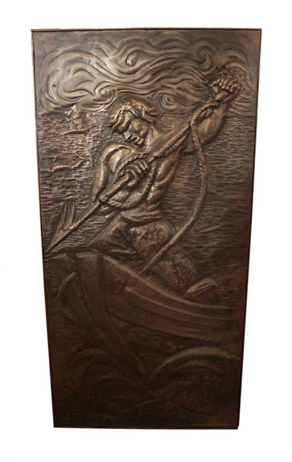 Copper Relief Depicting a Whaler