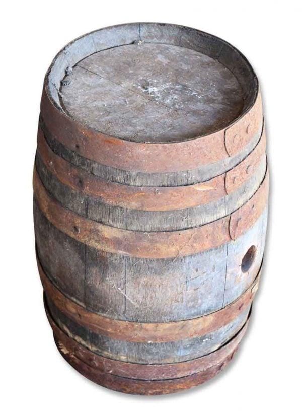 Grandpa's Old Wine Barrel with Rusty Rims