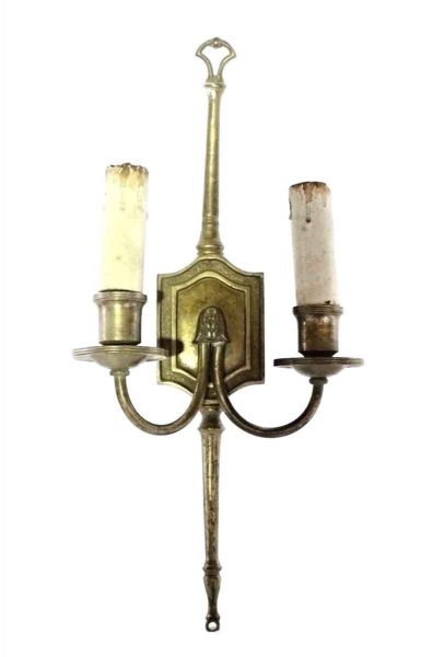 Tall Brass Colonial Sconces