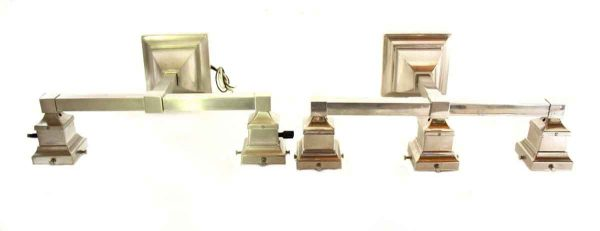 Nickel Over Brass Arts & Crafts Sconces