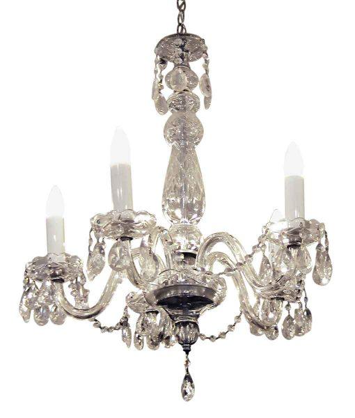 Five Light Crystal Antique Chandelier