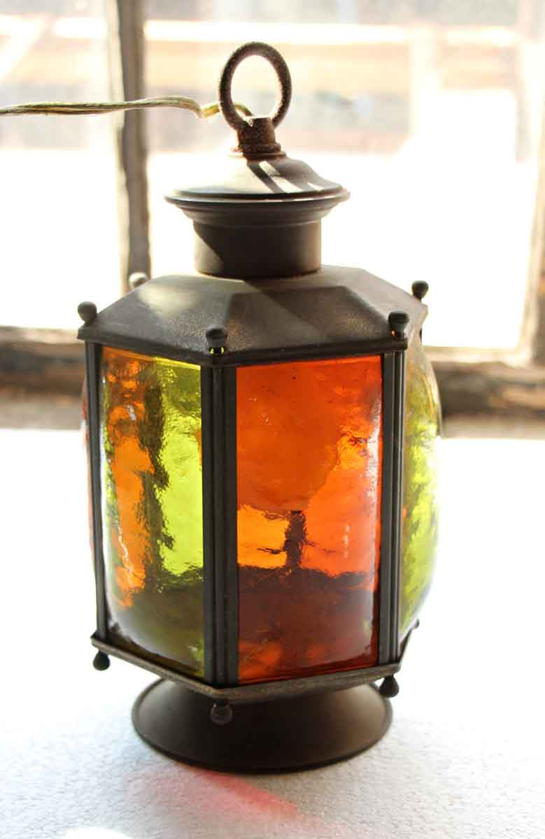 Stained Glass Lantern Light Olde Good Things