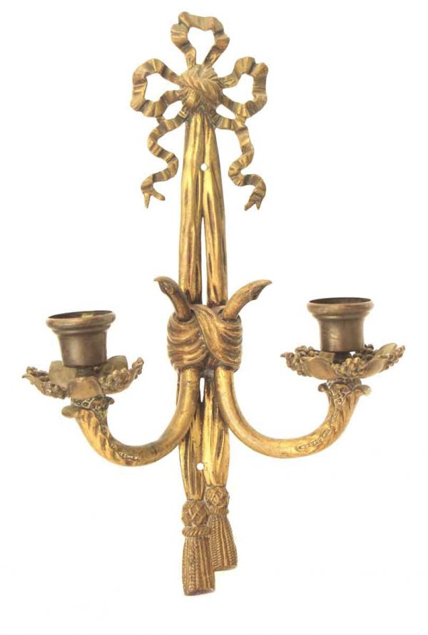 Single Two Armed French Bronze Sconce