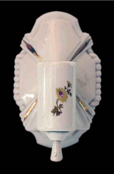 Porcelain Floral Bathroom Sconce