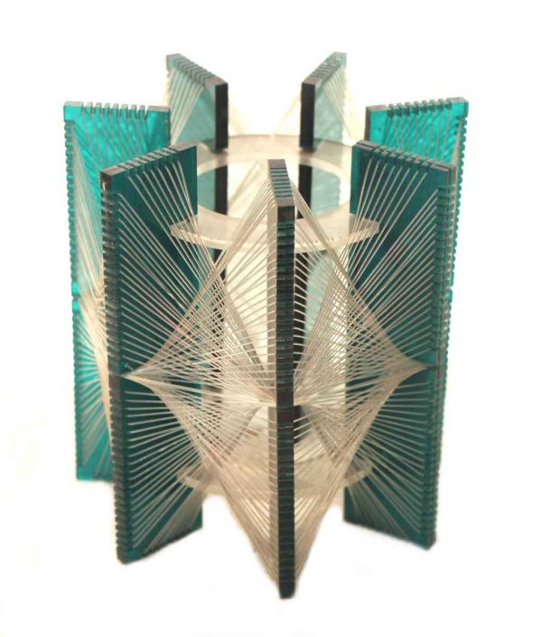 Vintage Green Plastic or Lucite Lamp Shades
