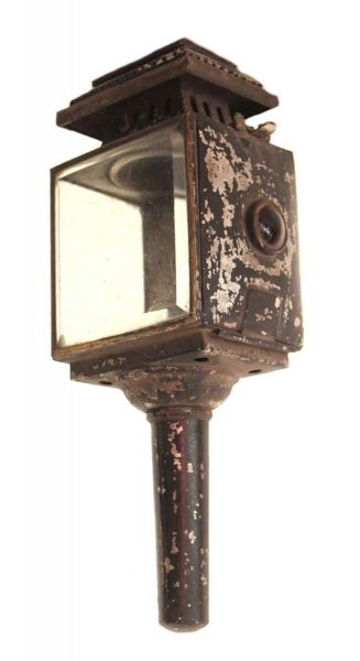 Carriage Lantern with Original Glass & Ruby Jewels