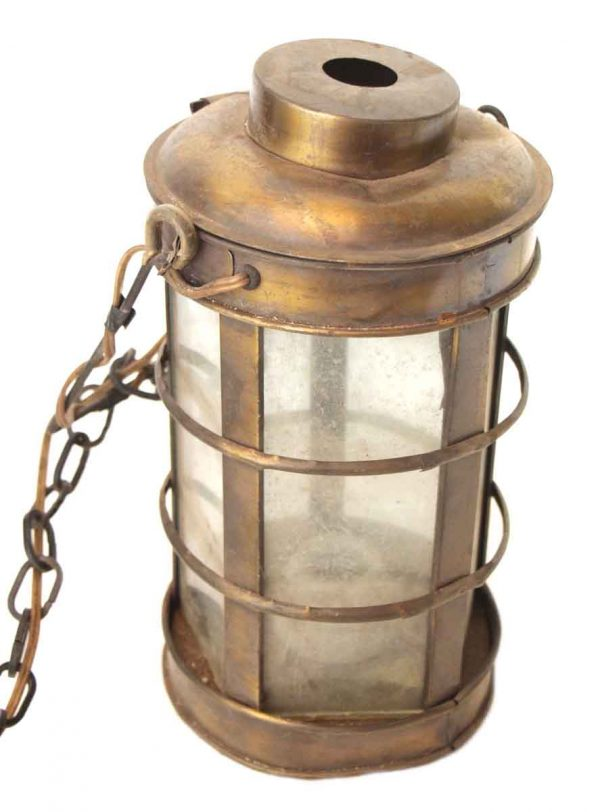 Hanging Vintage Brass Lantern
