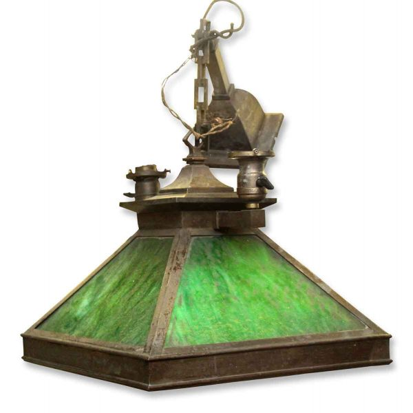 Cool Lantern Light with Green Glass
