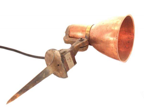 Vintage Copper Ground Spot Light
