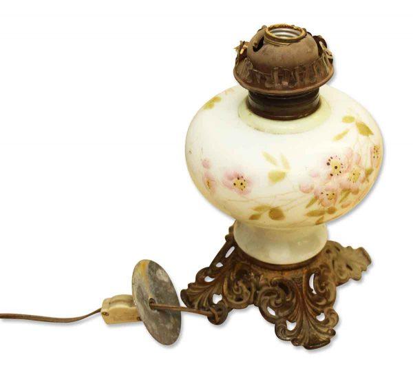 Floral Glass Kerosene Lamp Base