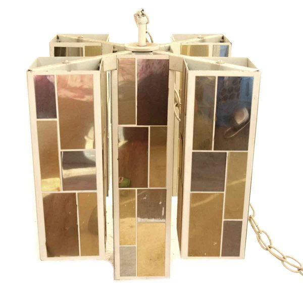 1970s Multi Tone Mirrored Light