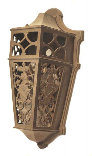 Ornate Cast Bronze Wall Sconce
