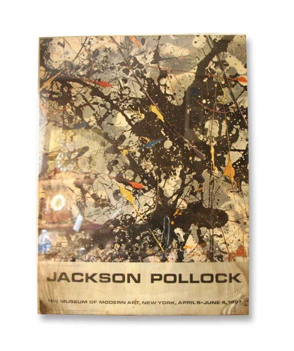 Jackson Pollock Moma Poster in Plastic Frame
