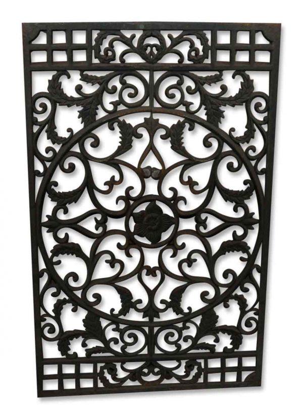 Ornate Cast Iron Grate