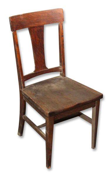 Set of Ten Wooden Oak Chairs