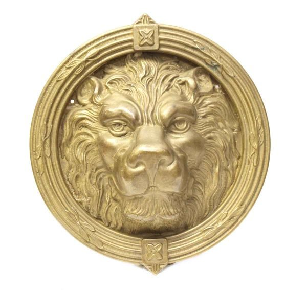Brass Round Lion Head Knocker