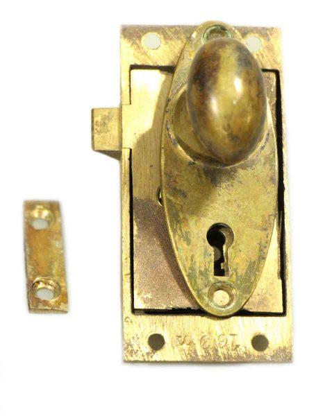 Small Screen Door Brass Lock Set