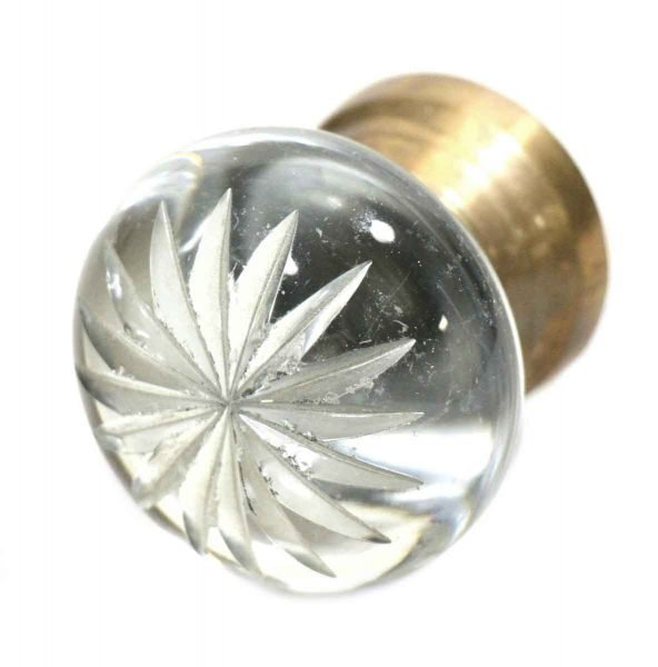 Etched Glass Knob Fixed Base