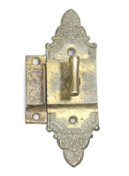 Long Bronze Ornate Cabinet Latch