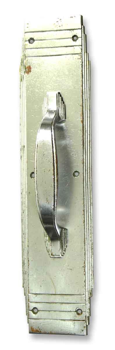 Chrome Plated Deco Russwin Door Pull