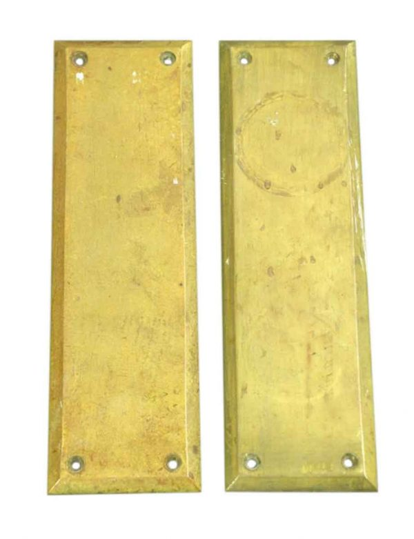 Pair of Plain Brass Push Plates