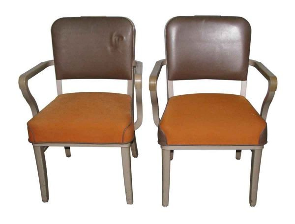 Vintage Office Steel Case Chairs with Arms