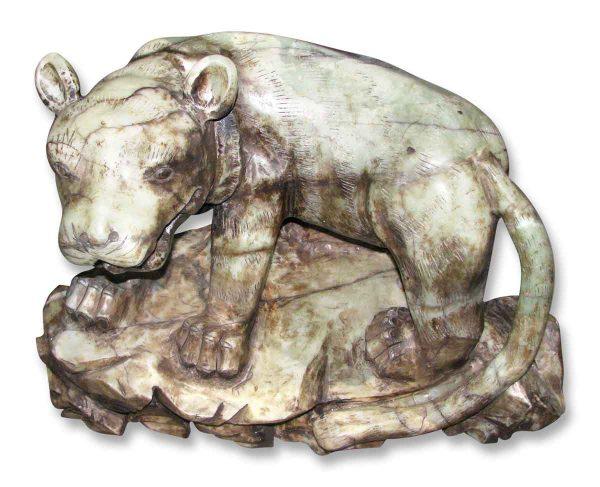 Dramatically Carved Onyx Lion
