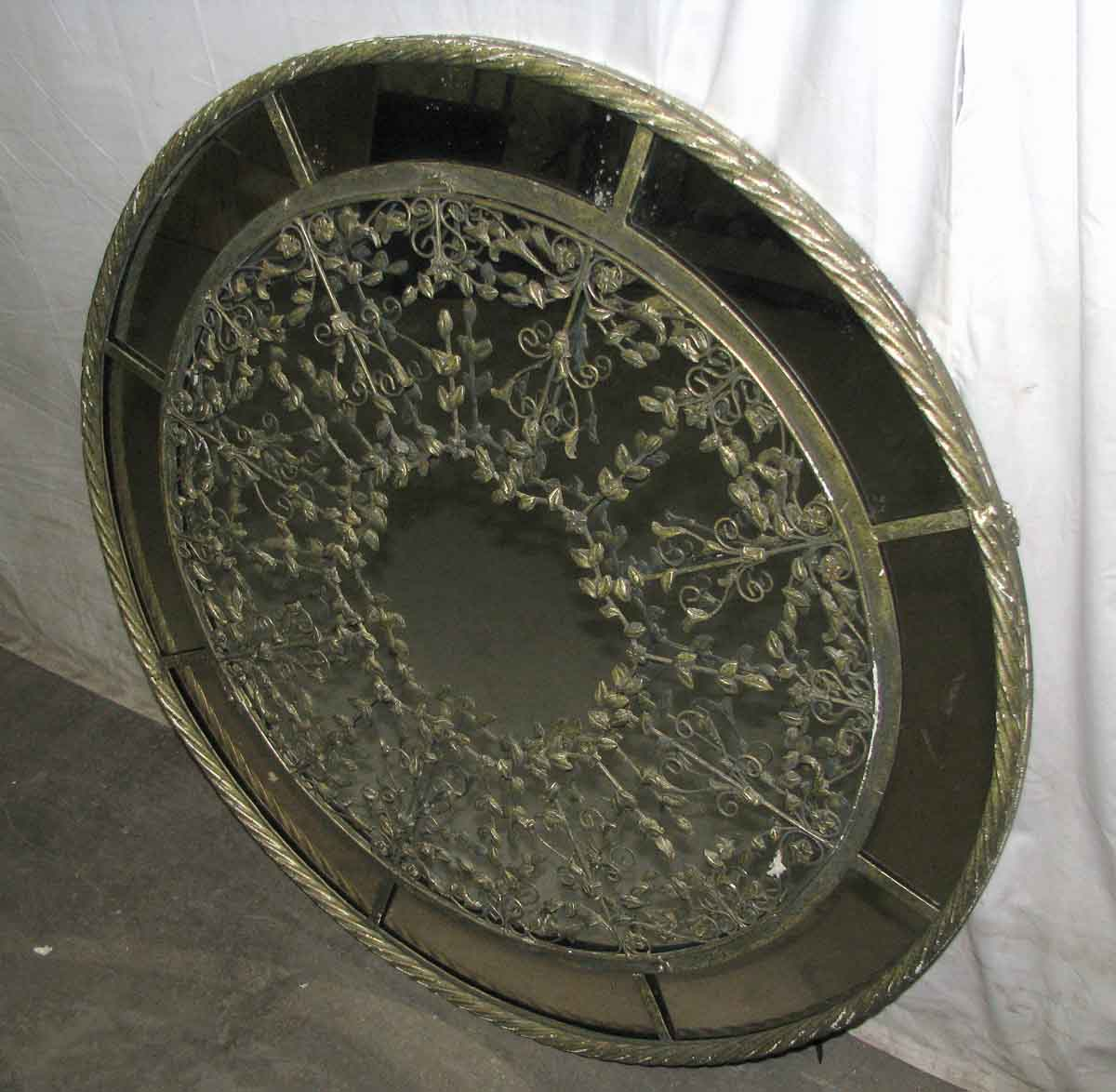 36 in round ornate framed mirror olde good things Round framed mirror