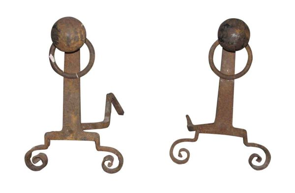 Pair of Antique Andirons