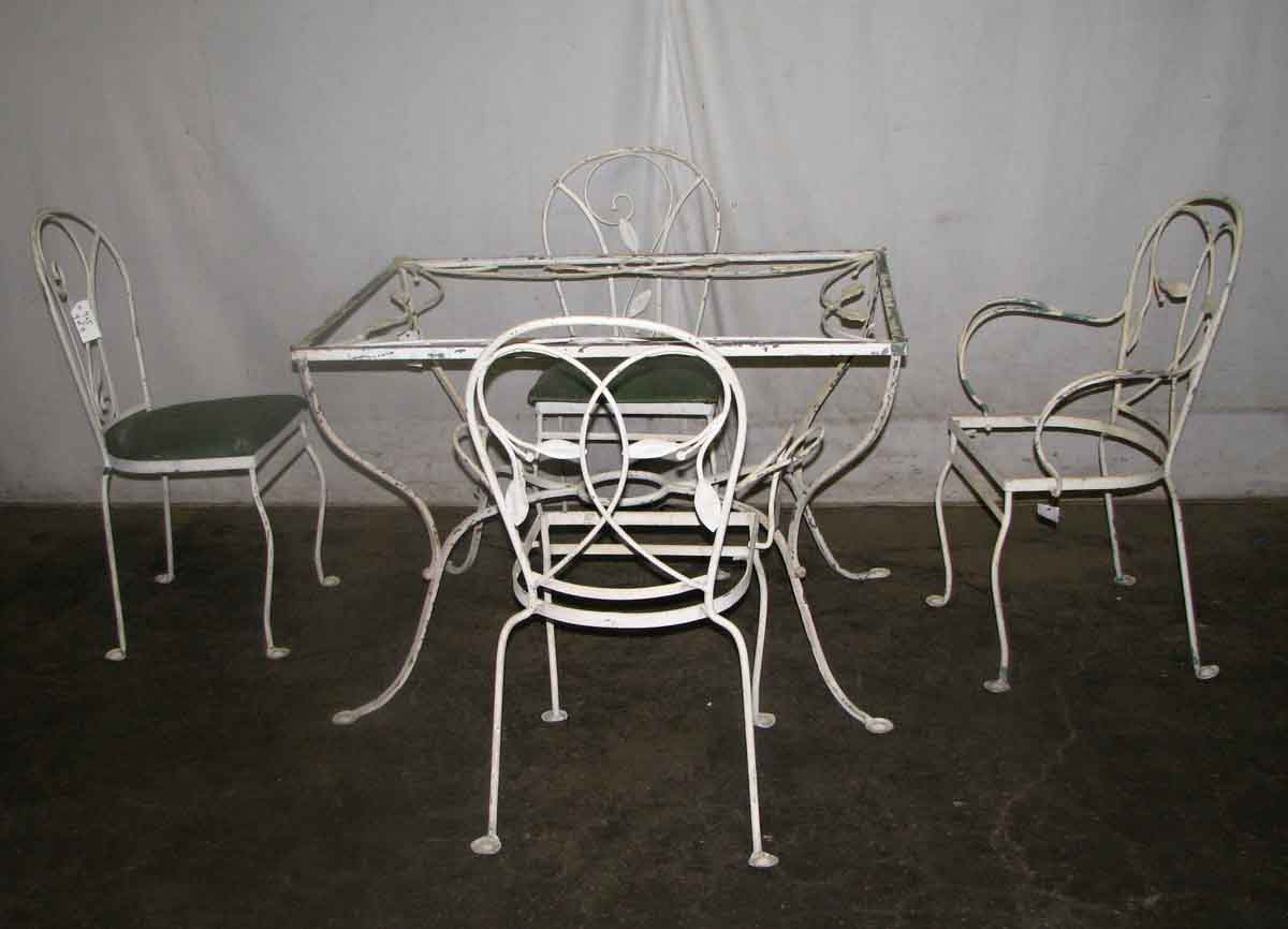 Salterini Wrought Iron Patio Table Amp Chairs Olde Good Things