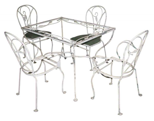 Salterini Wrought Iron Patio Table & Chairs