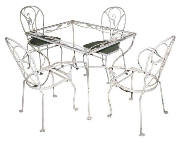 Salterini Wrought Iron Patio Table & Chairs