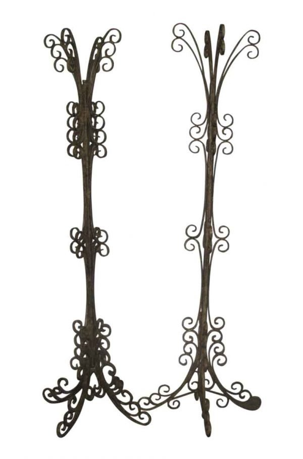 Ornate Wrought Iron Coat Stands
