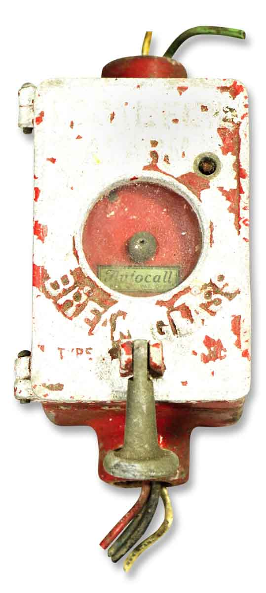 Vintage Red Fire Alarm