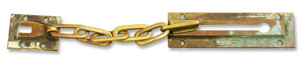 Vintage Brass Lock with Chain