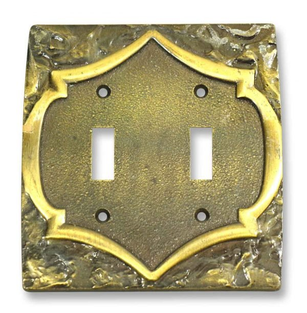 Antique Ornate Metal Switch Plate