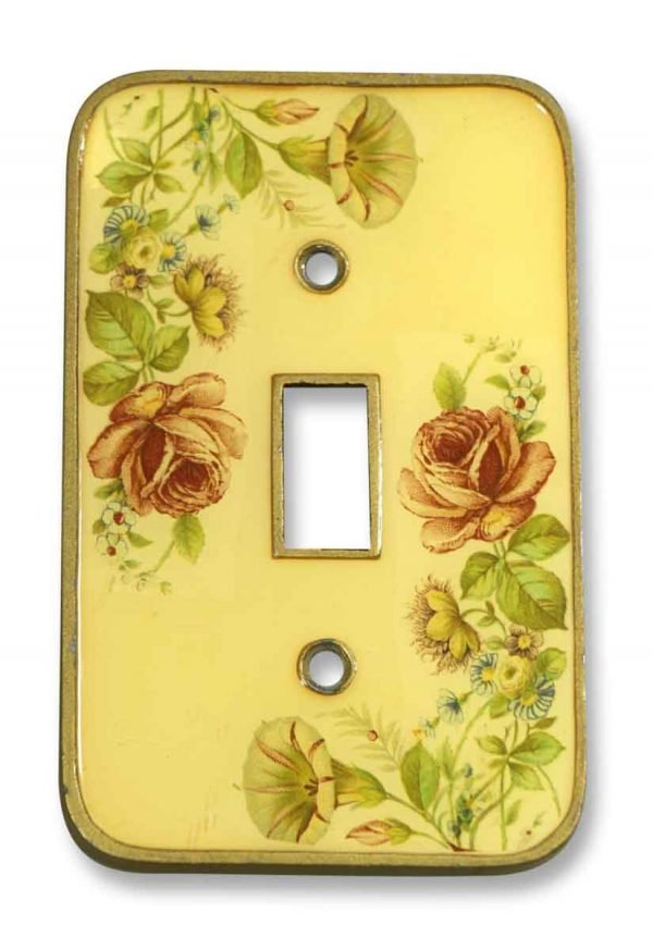 Vintage Floral Switch Plate