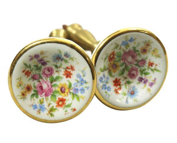 Floral Porcelain Curtain Tie Backs
