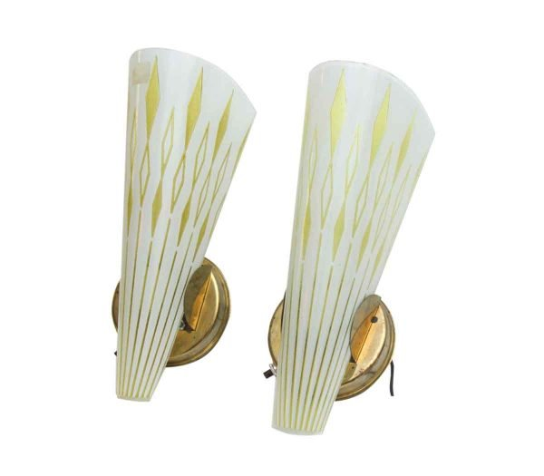 Pair of 1950s Mid Century Modern Wall Sconces