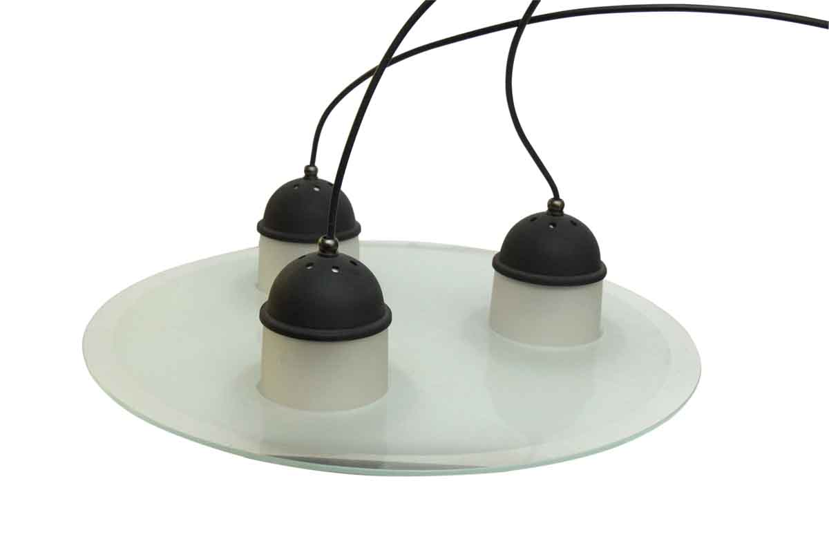 Large Modern Style Pendant Glass Dish Light Olde Good Things