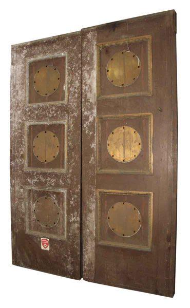 1920s Pair of Bronze Elevator Doors