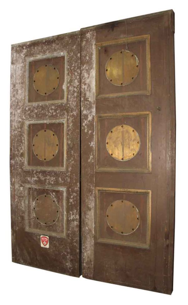 1920s Pair of Bronze Elevator Doors