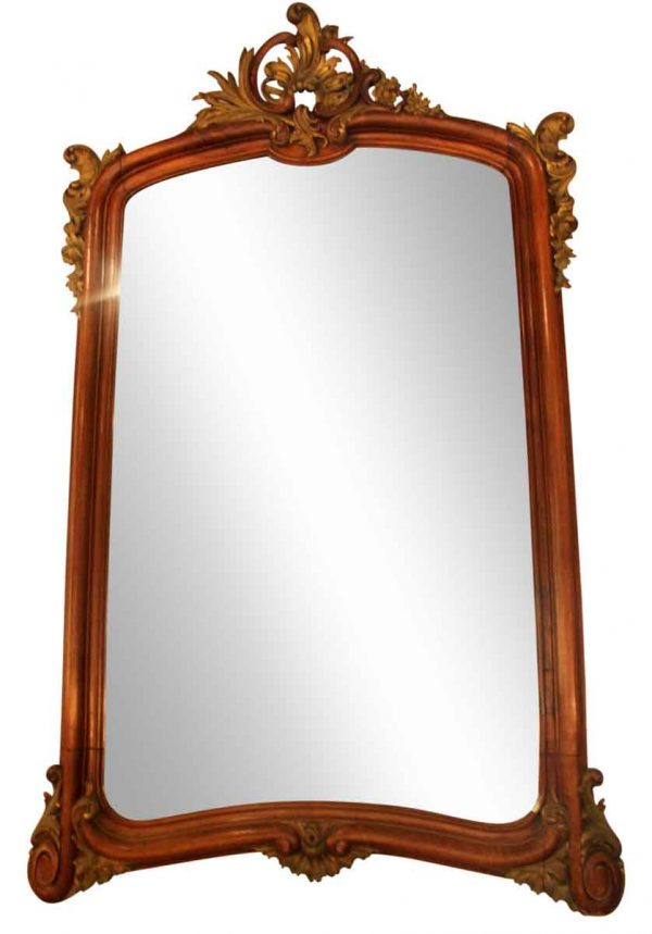 Large Carved French Wall Mirror