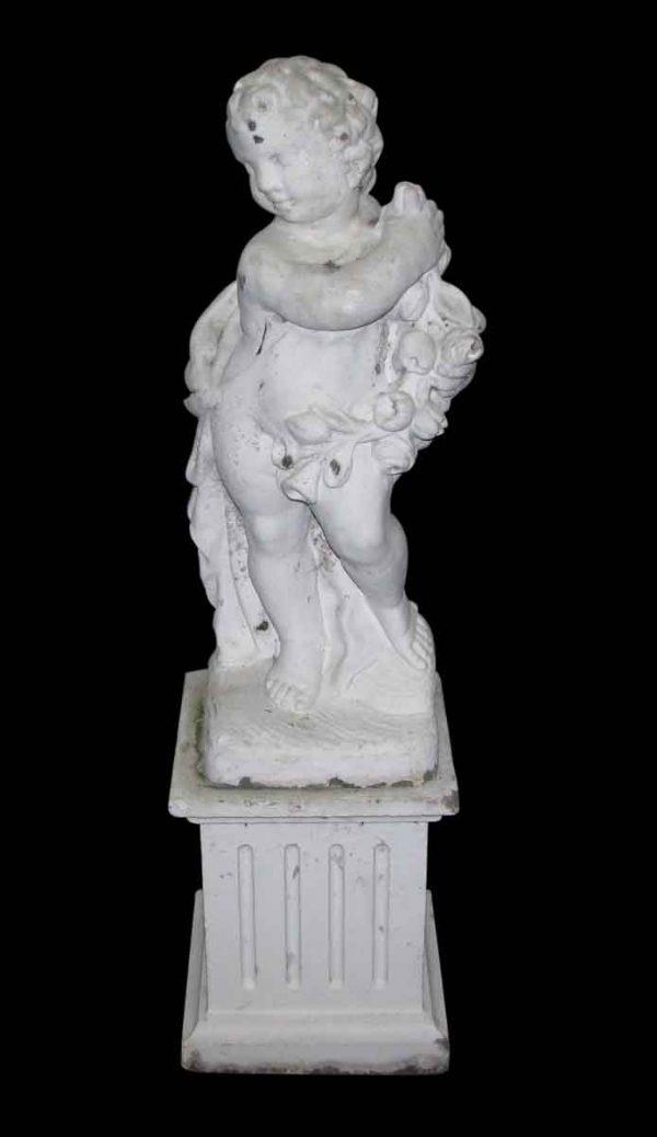 Set of White Cherub Statues