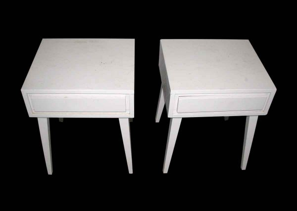 Pair of Simple Line Bed Side Tables