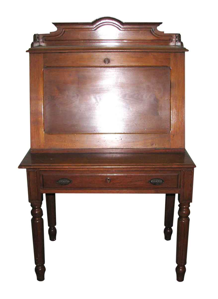Carved Walnut Plantation Desk - Carved Walnut Plantation Desk Olde Good Things