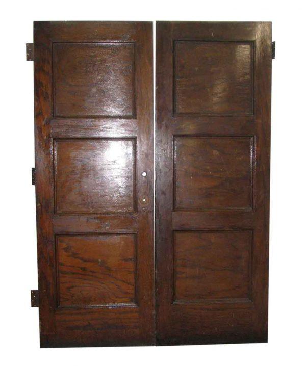 Three Panel Double Oak Doors