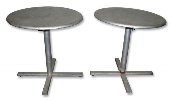 Round Metal Adjustable Table